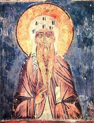 Acahie Sinaitul - fresca din secolul XV, de la Novgorod, Rusia